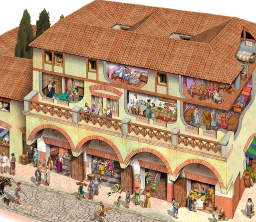 Superbe Bustling With Life And Commerce, Insulae Also Serve A Market Centre For  Romans.